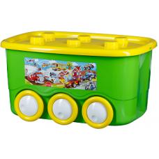 Контейнер на колёсах L-BOX 45л (уп.5) салатовый
