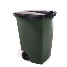 Бак для мусора 120л на колесах Элластик-пласт 0223