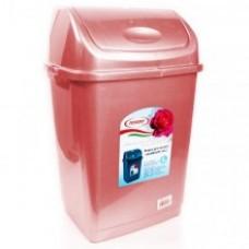 Ведро для мусора КАМЕЛИЯ №1 4л (уп.20) розовый перламутр