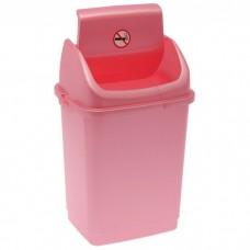 Ведро для мусора КАМЕЛИЯ №2 8л (уп.20) розовый перламутр