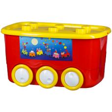 Контейнер на колёсах L-BOX 45л (уп.5) красный
