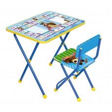 Комплект Познайка Азбука 2: Маша и медв(стол+стул) КП2/2син