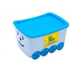 """Контейнер для игрушек """"Гусеница"""" (уп.5) голубой 0273гол"""