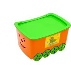 """Контейнер для игрушек """"Гусеница"""" (уп.5) оранжевый 0273ор"""