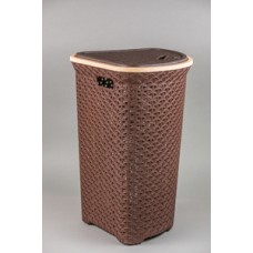 Корзина для белья 55л Плетёнка Угловая Ар-пласт (уп.5) коричневая