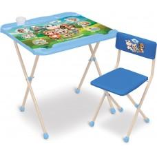 """Комплект детской мебели «Наши детки» """"Кто чей малыш?"""" стол-парта с мягким стулом 9943-1"""