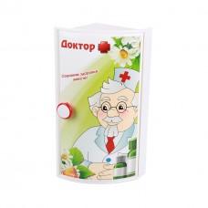 Полка д/ванной Доктор+ угловая (уп.5)