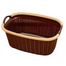 Корзина для белья Вязание 40л (уп.5) шоколадная