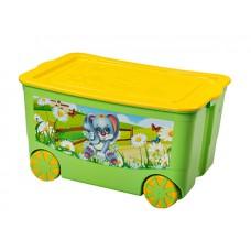 Ящик для игрушек KIDSBOX на колёсах Эльфпласт (уп.6)