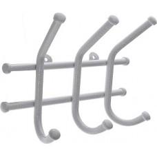 Вешалка настенная 3 крючка металлическая (уп.100)