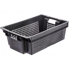 Ящик хозяйственный черный мелкая сетка 600*400*200мм