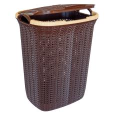 Корзина для белья Вязание 55л (уп.5) шоколадная